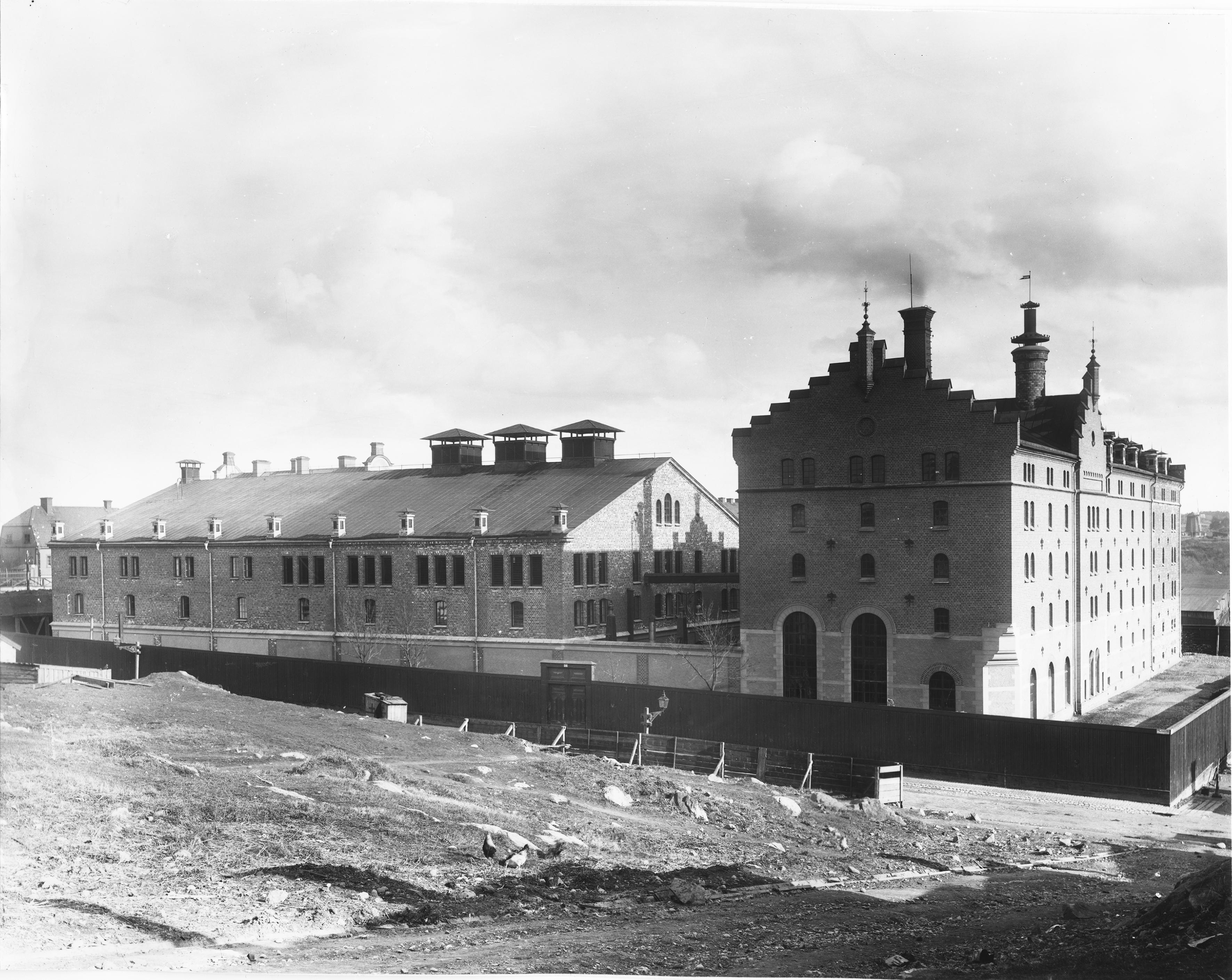 Gustaf Piehls Nya Bryggeri. Exteriör